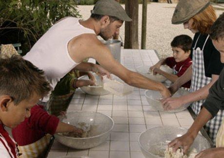 Atelier enfant fabrication du pain